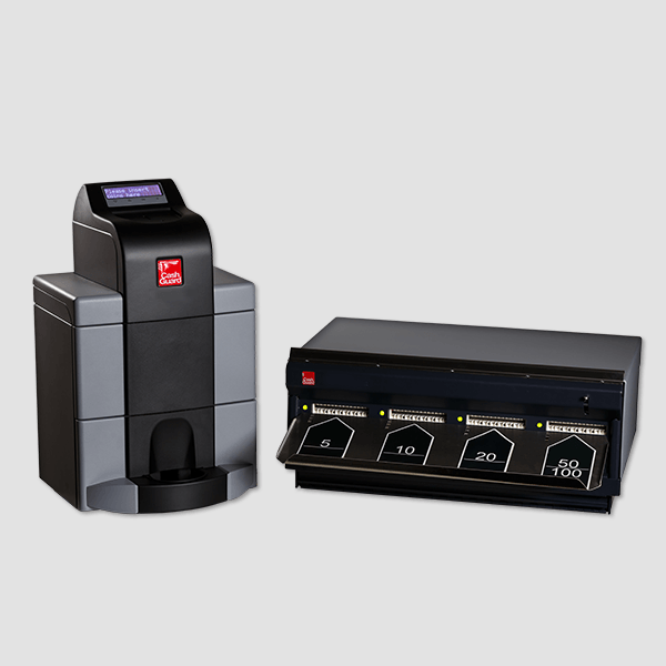 cash management hardware with note recycler and cashguard premium